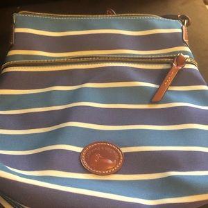 Dooney & Bourke Blue Stripped Crossbody Bag